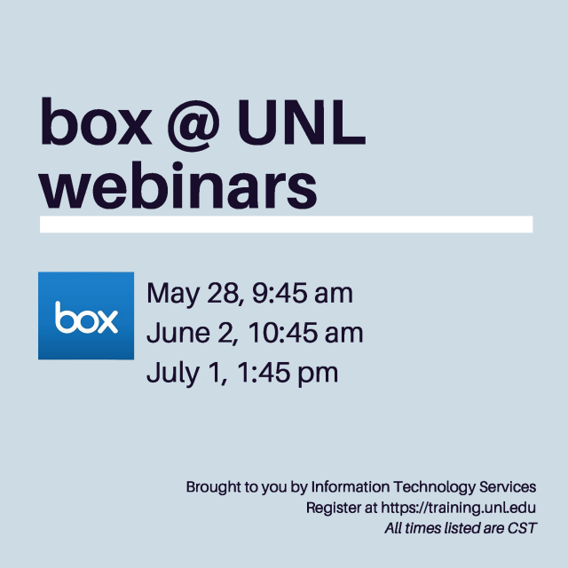 box @ UNL webinars