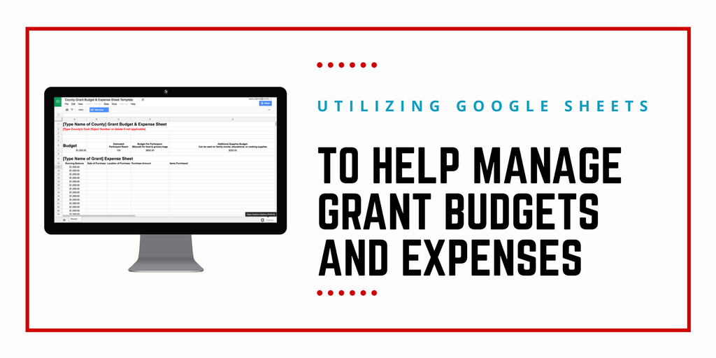 utilizing google sheets to help manage grant budgets and expenses