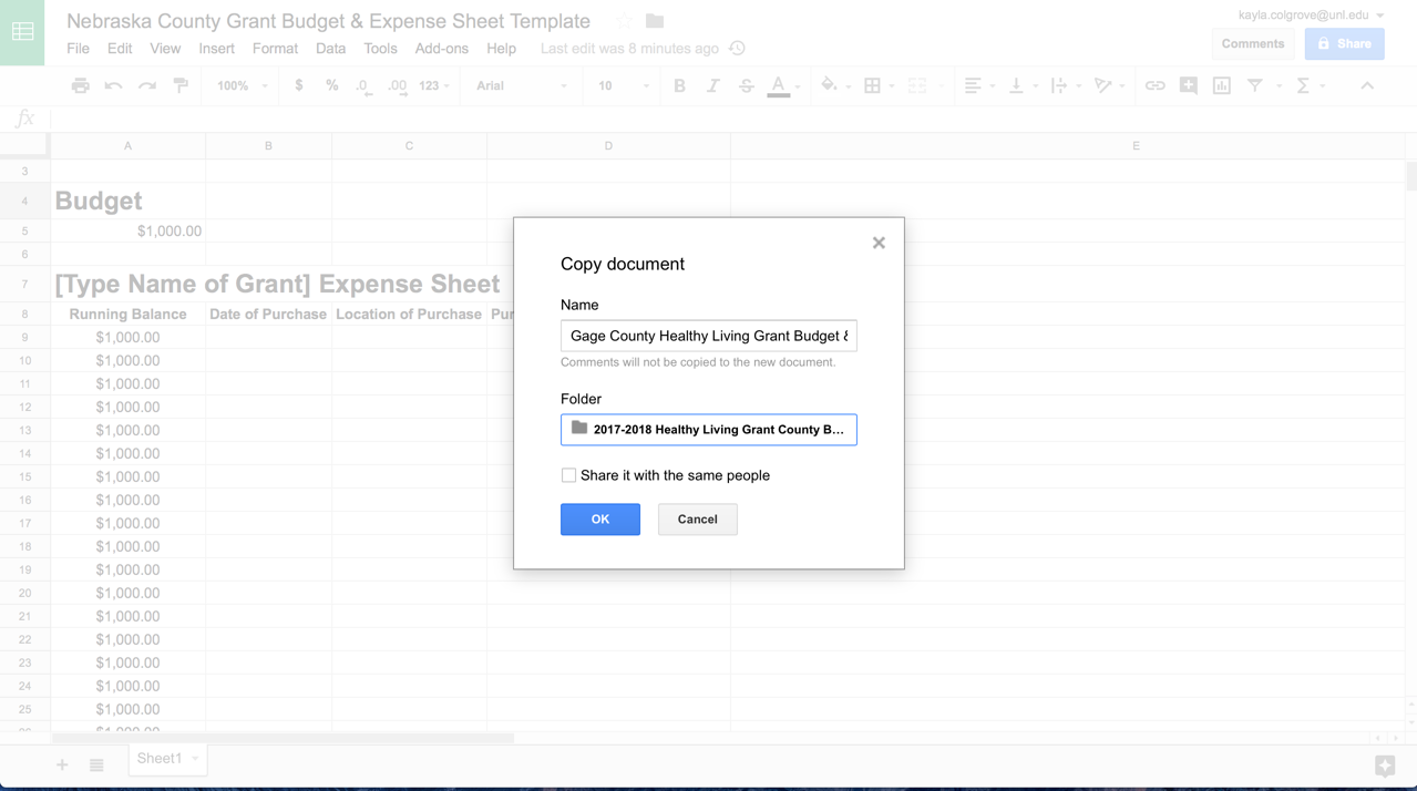 Utilizing Google Sheets to Help Manage Grant Budgets and Expenses ...